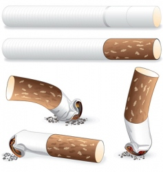 Cigarette butt vector