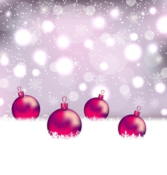 Winter cute background with christmas balls - vector