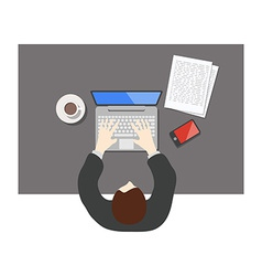 Flat style office worker business management on vector