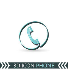 3d icon telephone vector