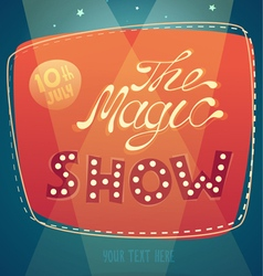 Magic show signboard background vector