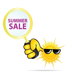 Summer sale sun color vector