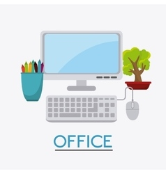 Business office and human vector