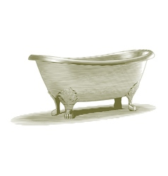 Engraved Bath Tub vector image