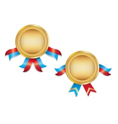 Award Medals Template With Ribbon vector image