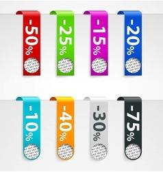 Sale paper tags announcements vector image