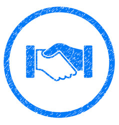 Acquisition handshake rounded grainy icon vector
