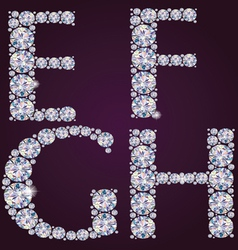 Alphabet of diamonds efgh vector