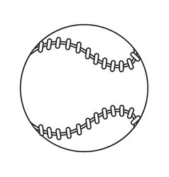 baseball ball sport game thin line vector image vector image