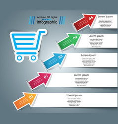 Busines infographic cart icon vector