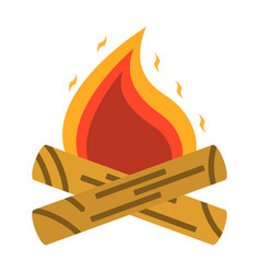 campfire bonfire icon tourism equipment vector image vector image