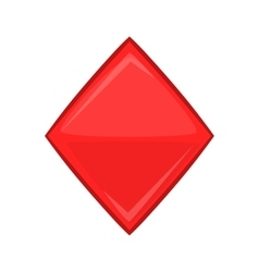 Card suit diamonds icon cartoon style vector