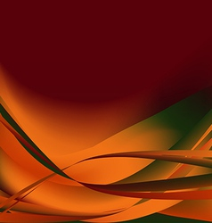 Colorful waves isolated abstract background autumn vector image vector image