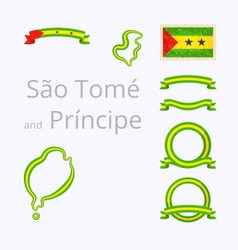 Colors of sao tome and principe vector