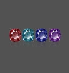 Cushion color stones vector