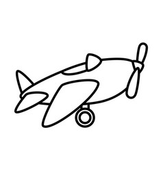 cute airplane toy icon vector image vector image