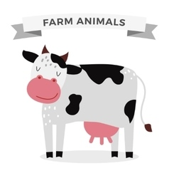 Cute cartoon cow vector image vector image
