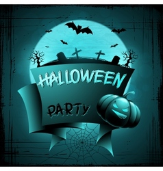 EPS 10 Halloween background with moon bats and vector image vector image