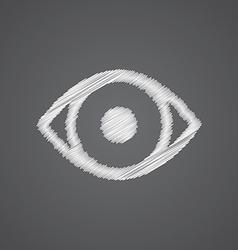 eye sketch logo doodle icon vector image vector image