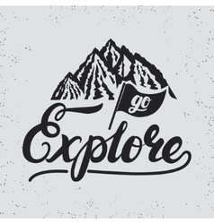 Go explore hand written lettering typography with vector image