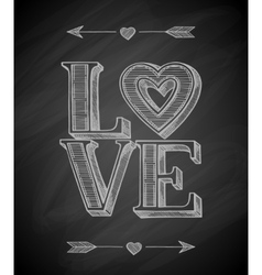 Hand drawn love poster vector
