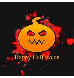 Happy halloween banner with pumpkin vector