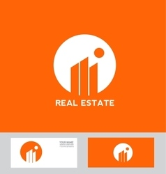 Real estate abstract building logo vector