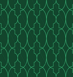 Retro 3d green big oval marrakech vector