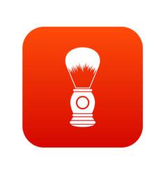 shaving brush icon digital red vector image vector image