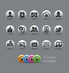 Social web icons pearly series vector
