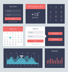 Ui kit for website and mobile app vector