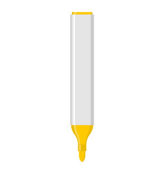 Yellow marker isolated office stationery school vector