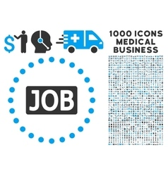 Job text icon with 1000 medical business symbols vector