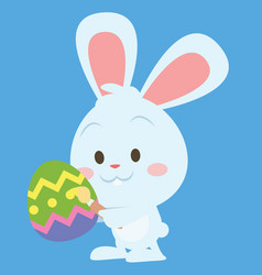 Happy easter theme with bunny vector