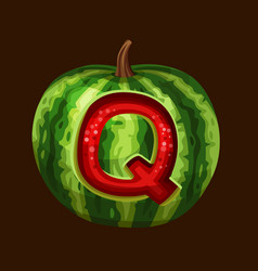 Watermelon icon for slot game vector