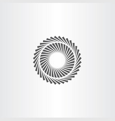 geometric optic circle icon vector image