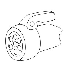Flashlighttent single icon in outline style vector