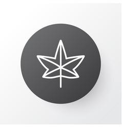 Leaf icon symbol premium quality isolated maple vector