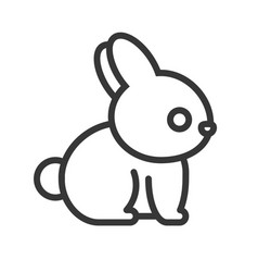 Rabbit outline icon vector