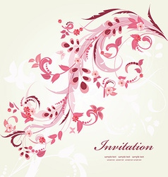 Floral ornament with butterflies for your design vector