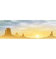 A Desert Landscape vector image