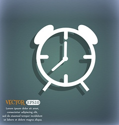 Alarm clock sign icon wake up alarm symbol on the vector