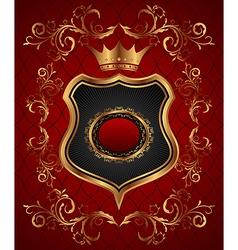 elegant gold heraldry frame - vector image