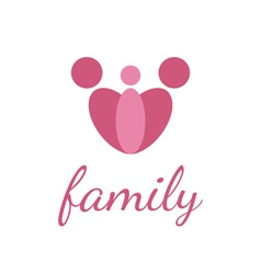 Happy family design template on white background vector