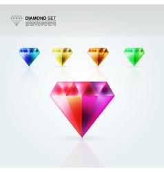 Diamond set vector image