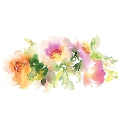 Flowers watercolor vector