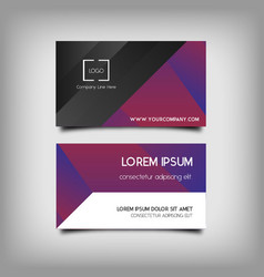 Abstract corporate business cards vector