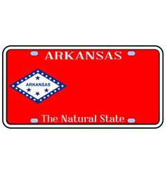 Arkansas state license plate vector