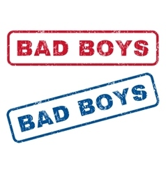 Bad boys rubber stamps vector