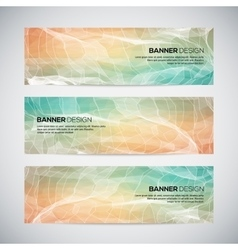 Banners with abstract colorful geometric lined vector